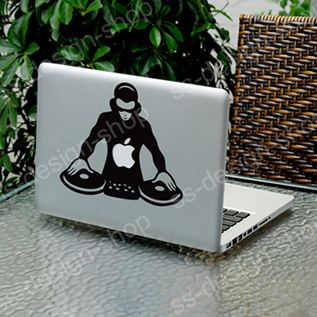 DJ Scratch Spin Mixer Player CDJ Sticker Decal for Apple MacBook Pro