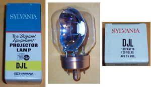 DJL 8mm Movie Projector Bulb Lamp NOS Sylvania 150W 120V Bell Howell