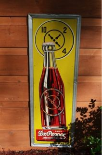 Vintage 40s Dr Pepper Cola Drink Red Brick 10 2 4 Sign Super RARE