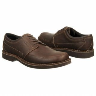 Clarks Mens Doby 4 Eye Lace Up Casual Shoes Chocolate Brown Leather