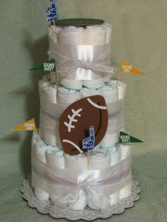 Tier Diaper Cake NFL Football Guys Diaper Party or Baby Shower