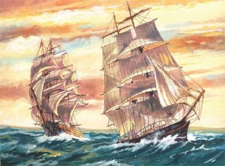 Paint by Number Kit Sailing Ships Reeves