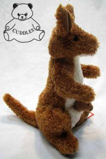 Kangaroo with Baby Joey Plush Toy Stuffed Animal Douglas Cuddle BNWT S
