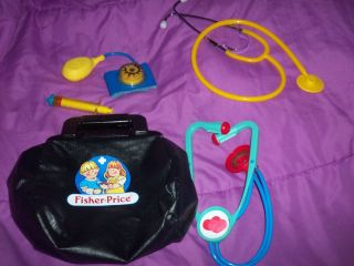 Fisher Price Docter kit pretend play docter Fisher Price 1987 4 piece