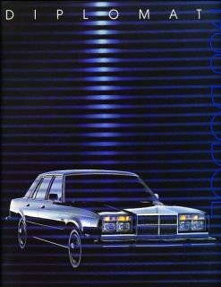 1988 Dodge Diplomat Salon Deluxe Sales Brochure Book