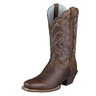 Ariat Womens Legend Leather Cowboy Western Boots Brown Oiled Rowdy