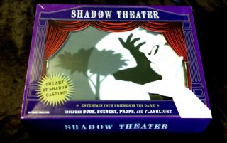 Shadow Theater Kit Cast Shadows Family Drama Book Props Box Set