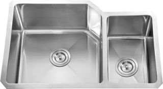 Dowell Undermount Handcrafted Double Bowl Stainless Steel Sink Small