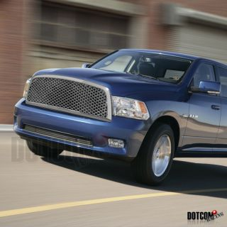 09 12 Dodge RAM 1500 Chrome Front Upper Mesh Grill Grille