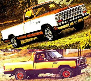 1981 Dodge RAM Pickup Brochure D w 150 250 350 Macho