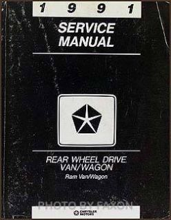 1991 Dodge RAM Van Wagon Shop Manual B100 B150 250 B350