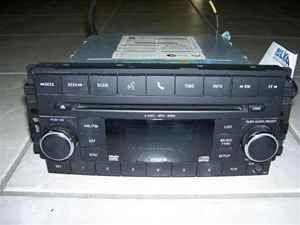 09 10 dodge journey 6 disc cd changer radio oem lkq