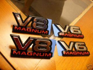 DODGE RAM DAKOTA DURANGO VAN MOPAR TRUCK V6 V8 MAGNUM EMBLEM DECAL OEM