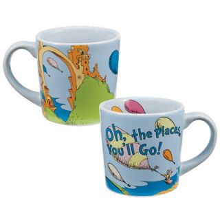 Dr. Seuss Oh the places youll go 12 oz. Illustrated Ceramic Mug NEW
