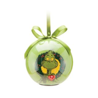 Dr Seus The Grinch Two Sided LED Light Ball Christmas Holiday Ornament