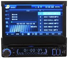 Diesel Audio NS AUTO7 7 in Dash Flip Up DVD Player Car Stereo
