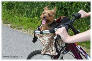 DESIGNER BIKE DOG CARRIER PET BICYCLE HANDLEBAR BASKET (PBB 3)