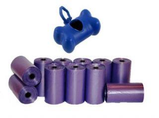 Dog Waste Poop Bags Dispenser Pink Blue Black Purple 500 Bags