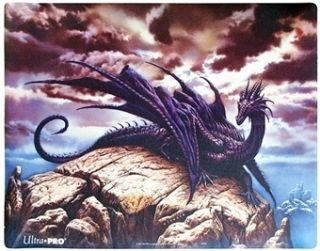 MTG Magic Ultra Pro Ciruelo Black Dragon Playmat New Play Mat