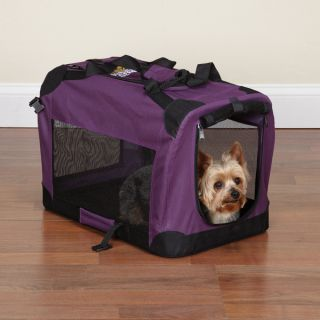Guardian Gear Lightweight Soft Sided Purple Dog Crate