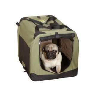 Guardian Gear Nylon Steel Soft Sided Dog Crate X Small Sage Green