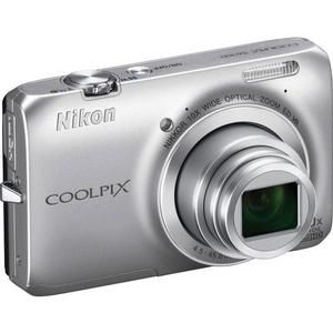 Nikon Coolpix S6300 Digital Camera Silver Kit 16MP USA