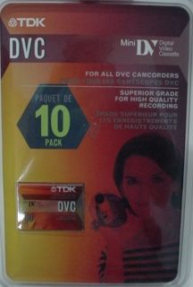 DV Digital Video Cassette TDK DV60 Mini Video Cassette Mini DV Tape