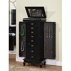 NEW Morre Eight Drawer Jewelry Box Armoire Organizer Mirror Stand