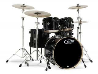 DW Pacific CM5 Concept 5 Piece Drums Set Maple Shell Pack Pearl Black