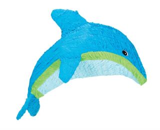 Dolphin Pinata Tropical Hawaiian Luau Birthday Party Supplies