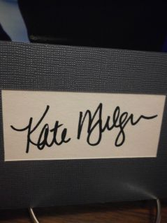 Kate Mulgrew Autograph Star Trek Display Signed Signature COA