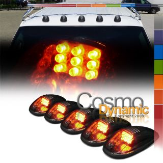 Truck suv Smoked Lens Roof Top Marker Running Driving Lights
