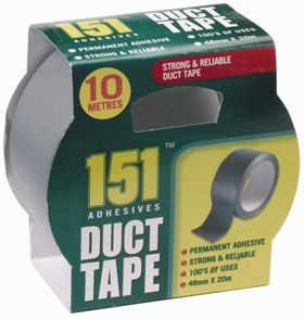 10M Grey Duct Tape Adhesive Roll Waterproof Strong Reliable Free Post