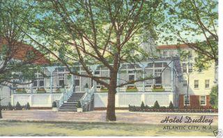 Atlantic City NJ Hotel Dudley 1951 Linen P C