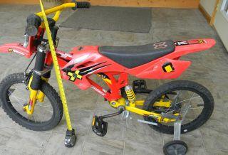 childs kids bike X games motobike #1 training wheels dirt bicycle used
