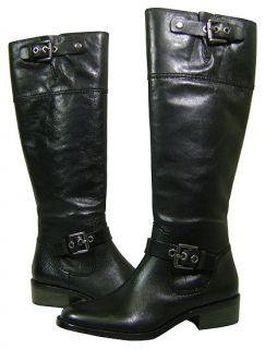 Coach Jacinda Full Grain Leather Black Boots 10 New