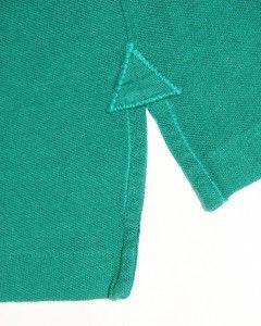 Burberry Brit Mens T Shirt Polo Green Size L Short Sleeve