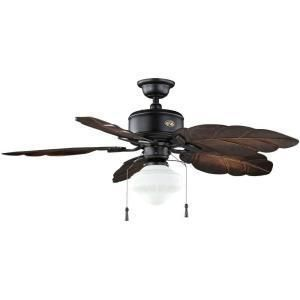 Hampton Bay Bay Island 52 in Balcarro Walnut Ceiling Fan 670787 on