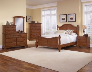 Vaughan Bassett Farmhouse 7 Piece Bedroom Set   Vanity Dresser, Vanity