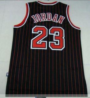 Michael Jordan Chicago Bulls 23 Swingman Black T Jersey
