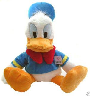 Disney DONALD DUCK Large Premium Stuffed Plush Doll Embroidered