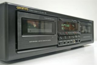 Onkyo Stereo Cassette Deck Dual Tape Player Recorder TA RW505