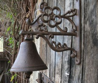 Gorgeous Repro Chic Cast Iron Gate Bell Door Bell Garden Bell
