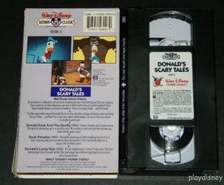 Disney Cartoon Classics Donalds Scary Tales 13 VHS
