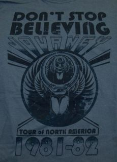 Journey DonT Stop Believing 1981 Tour Rock Band Adult T Shirt Tee