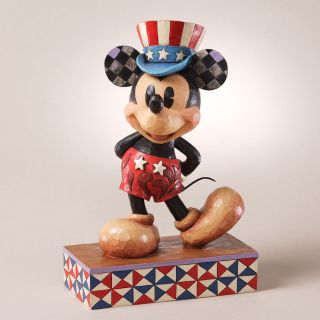 DISNEY TRADITIONS MICKEY MOUSE PATRIOTIC FIGURINE STATUE JIM SHORE