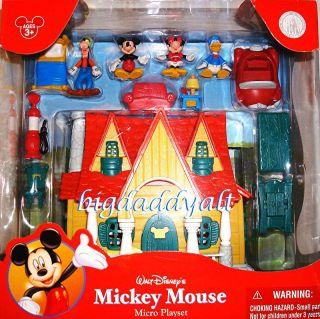 Walt Disney Mickey Mouse Toontown House Micro Playset