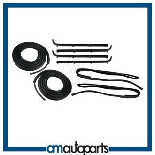 Bronco F Series Pickup Truck Door Window Sweep Weatherstrip Seal Kit