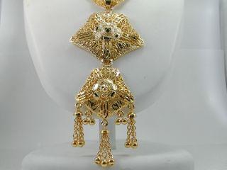 UNIQUE DUBAI EAST INDIA 22K 24K Gold gp Earrings Necklace SET