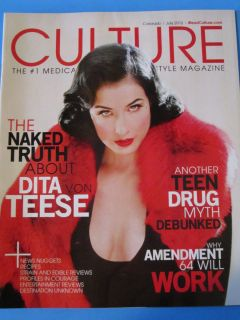 Cannabis Lifestyle Magazine July 2012 Dita von Teese Medical Marijuana